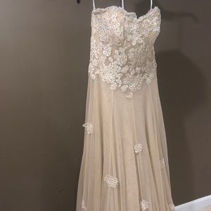 Jovani-nude gown/dress- rhinestone/appliqué 6
